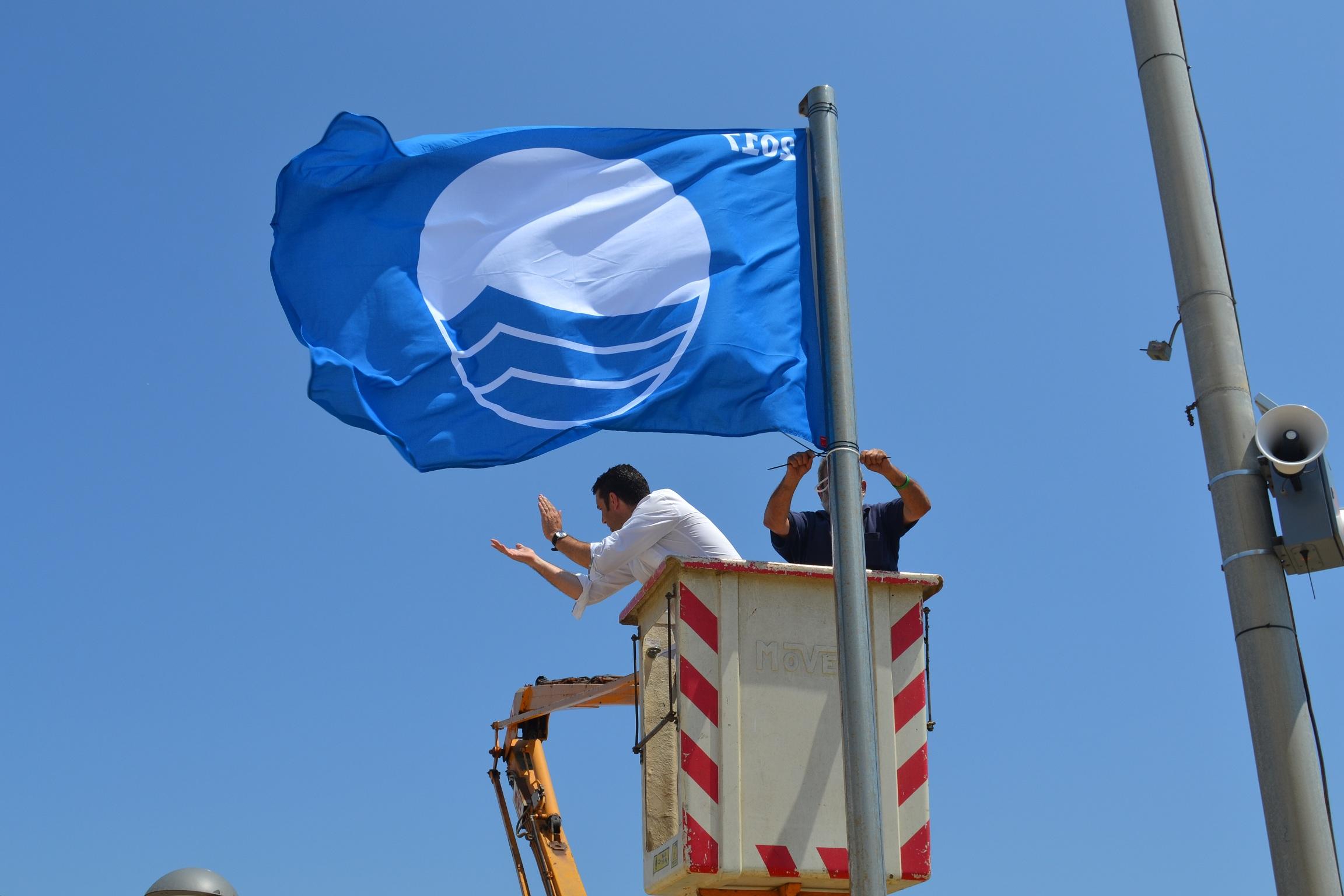 Hissada de les banderes blaves, amb Xavier Amor